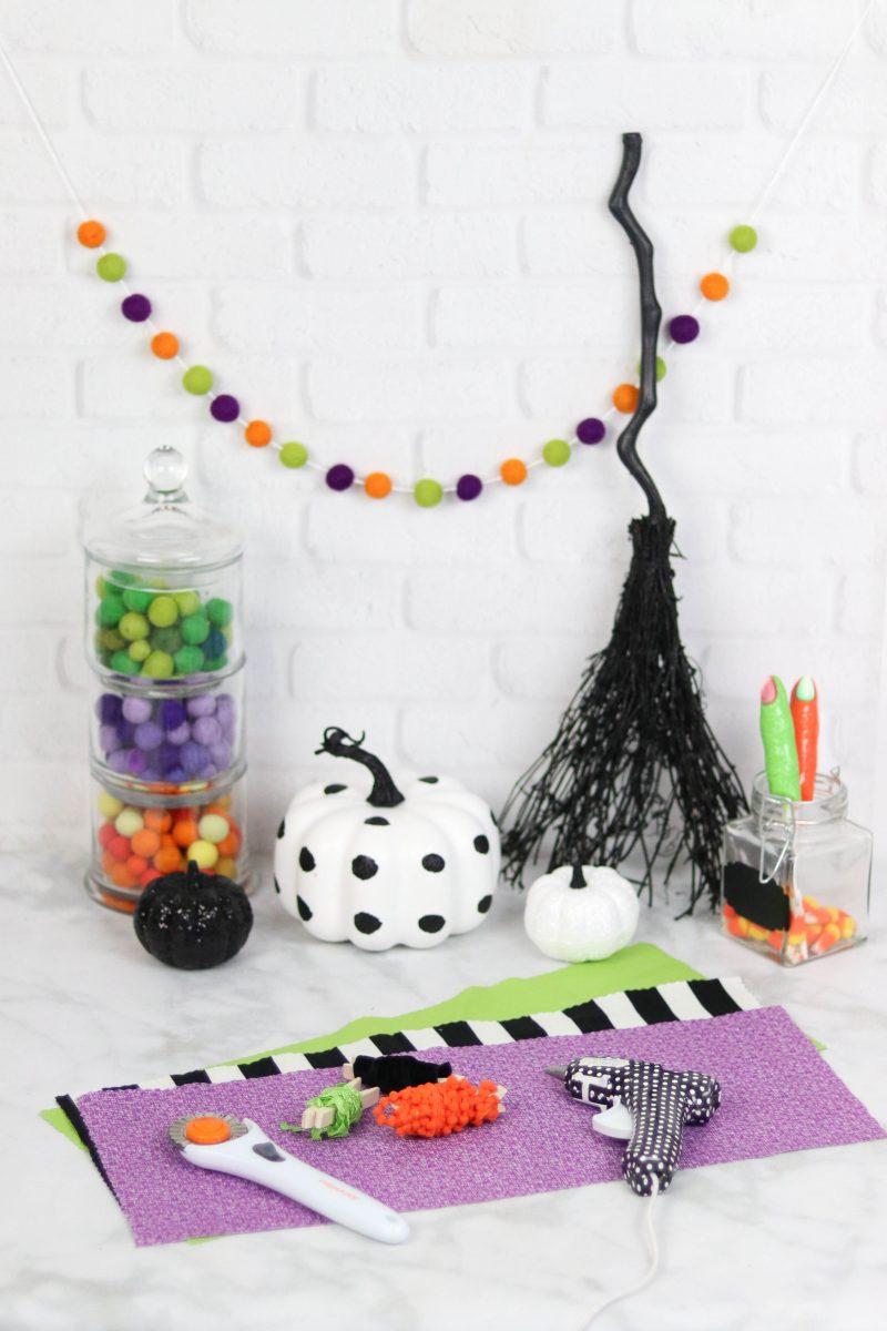 No Sew Halloween Goodie Bags Supplies