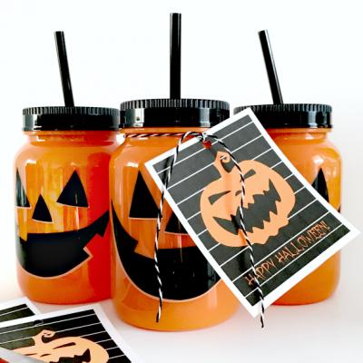 Jack-O-Lantern Halloween Printable Gift Tag