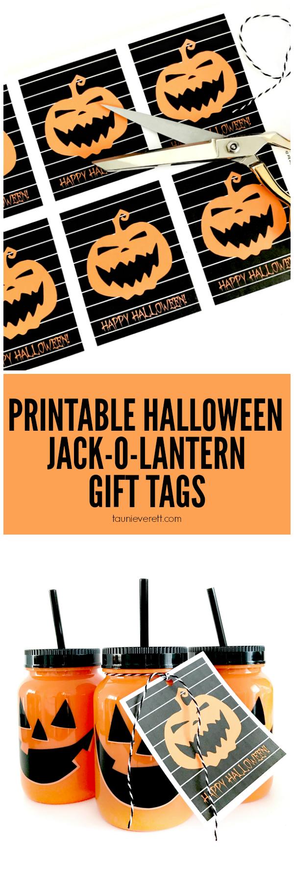graphic about Free Printable Halloween Gift Tags called Jack-O-Lantern Halloween Printable Reward Tag - 1825
