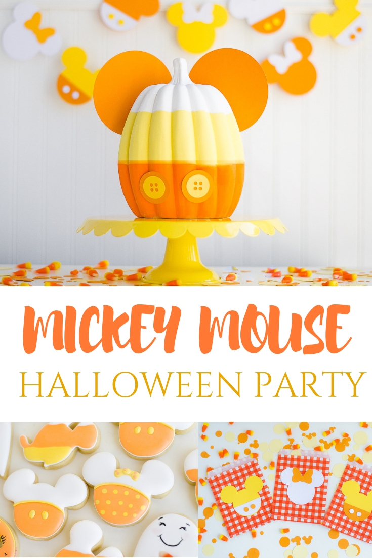The cutest Mickey Mouse Halloween Party | Fun Mickey pumpkins, Mickey cookies, banners and more!