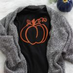 Pumpkin Iron-On Vinyl Shirt