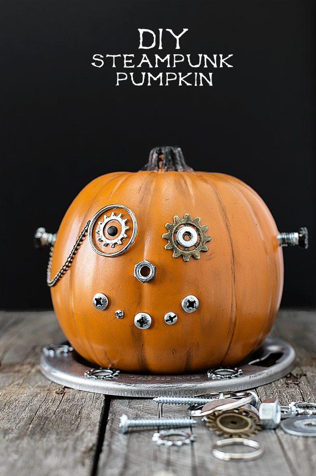 DIY Steampunk Pumpkin