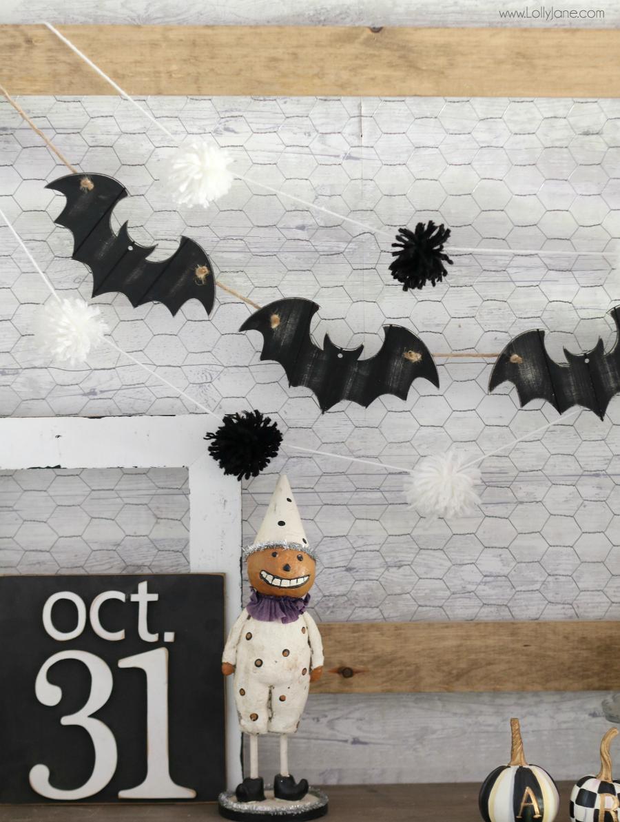 DIY Wooden Bat Garland