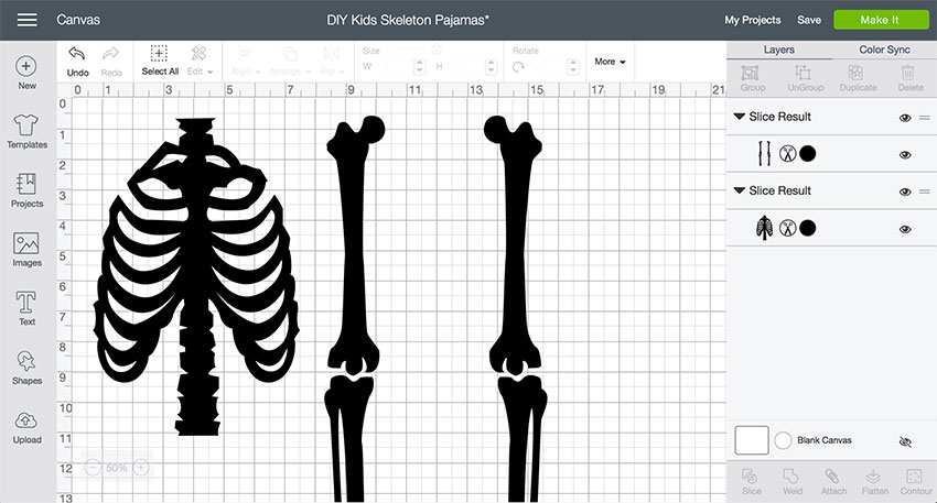skeleton bones cut file