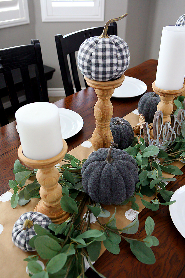 Pretty Fall Decorations for the Table