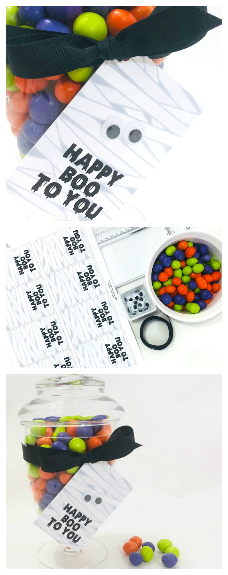 Printable Happy Boo To You Mummy Tags | Attach to a treat for a fun Halloween gift!