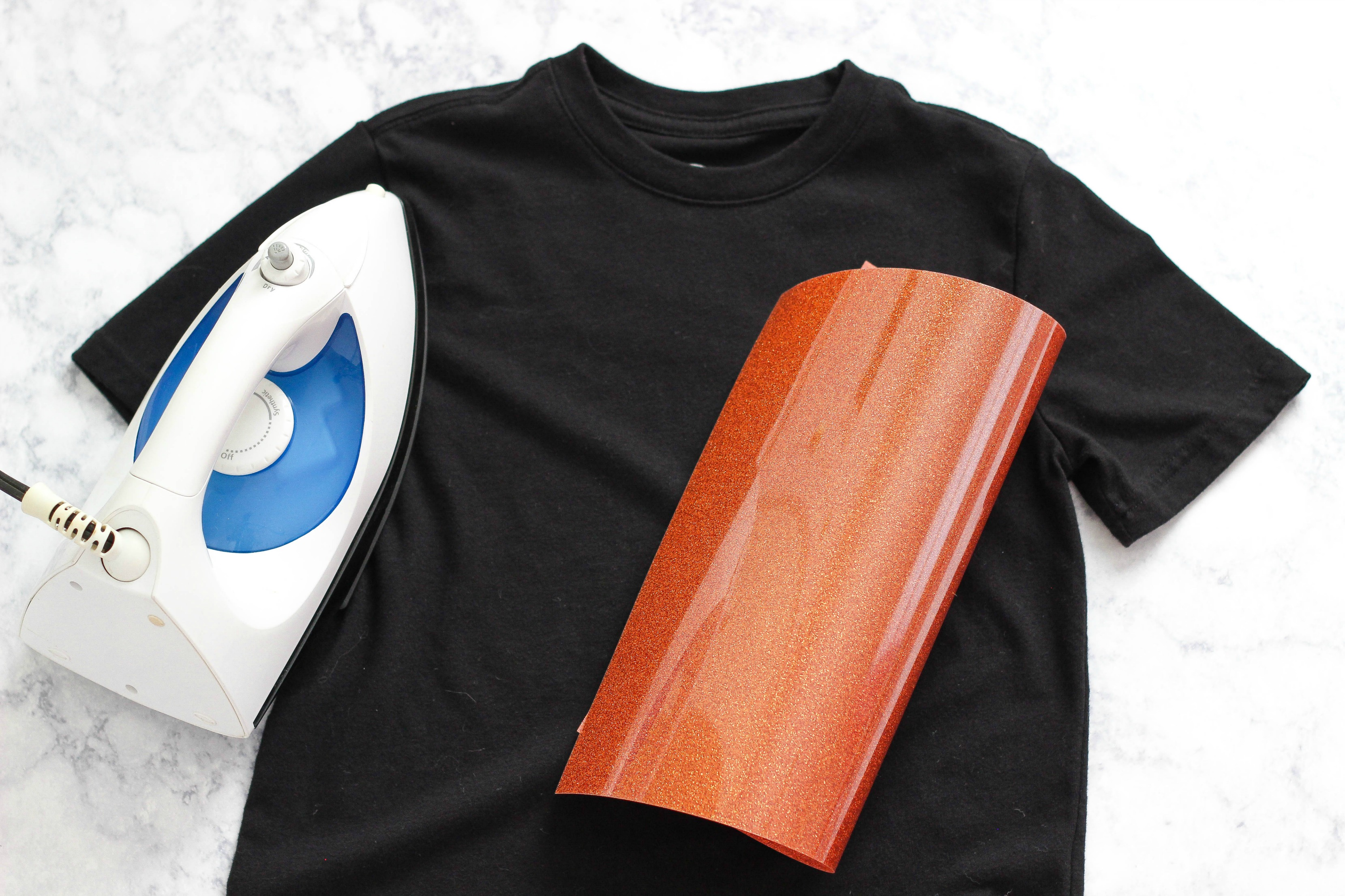 Pumpkin Iron-On Vinyl Shirt Supplies