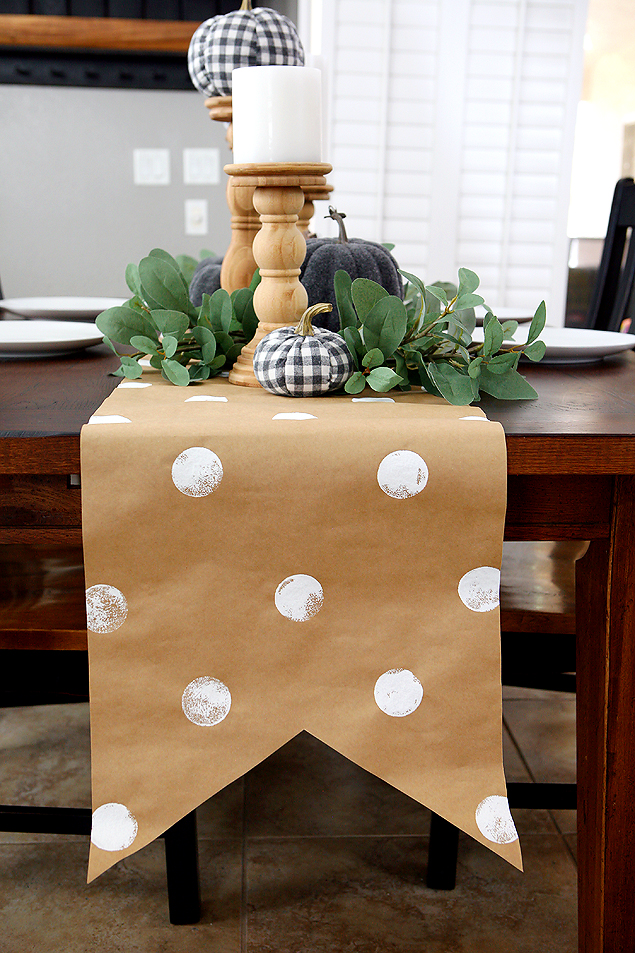 Fun DIY Kraft Paper Table Runner