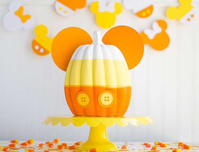 Mickey Mouse Halloween Party | DIY Mickey Painted Pumpkin