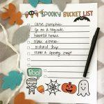 Printable Spooky Bucket List