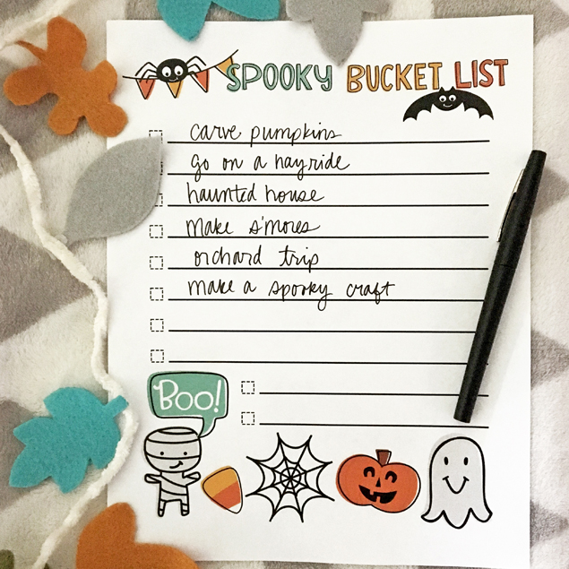 Spooky Bucket List