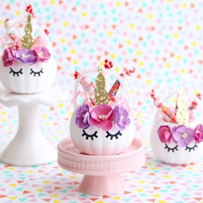 Unicorn Pumpkin Candy Holders