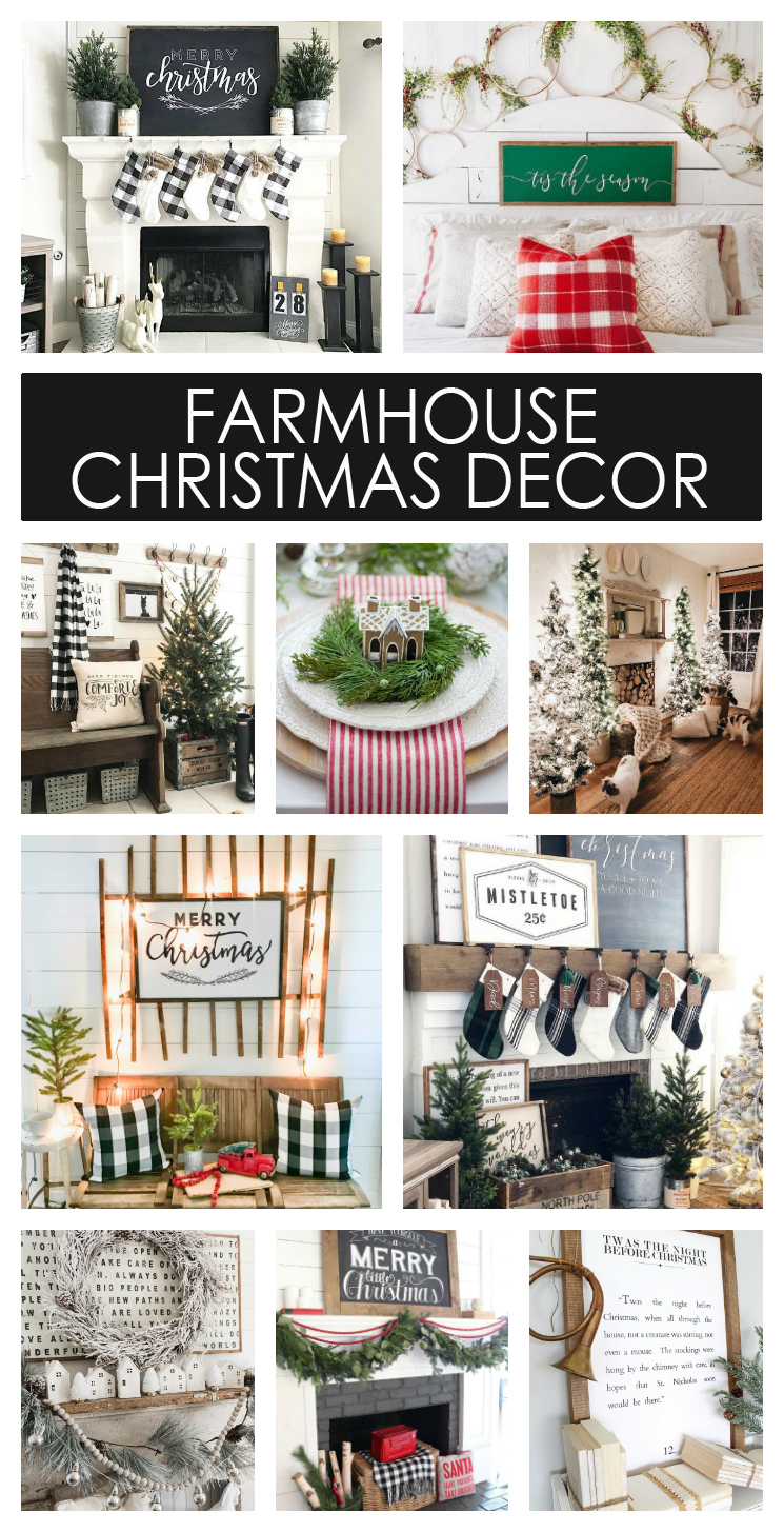 Beautiful Farmhouse Christmas Decor Ideas | Christmas Decorations