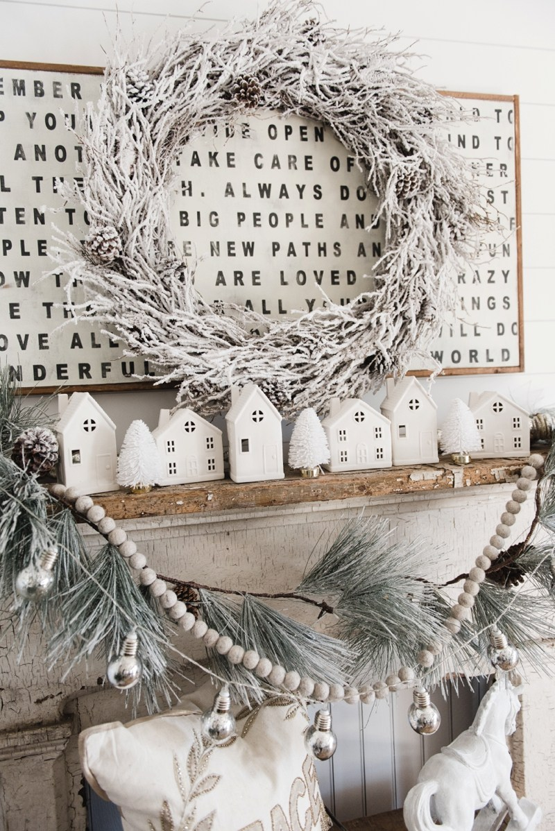 Farmhouse Christmas Decor - Farmhouse Christmas Village | Liz Marie Blog