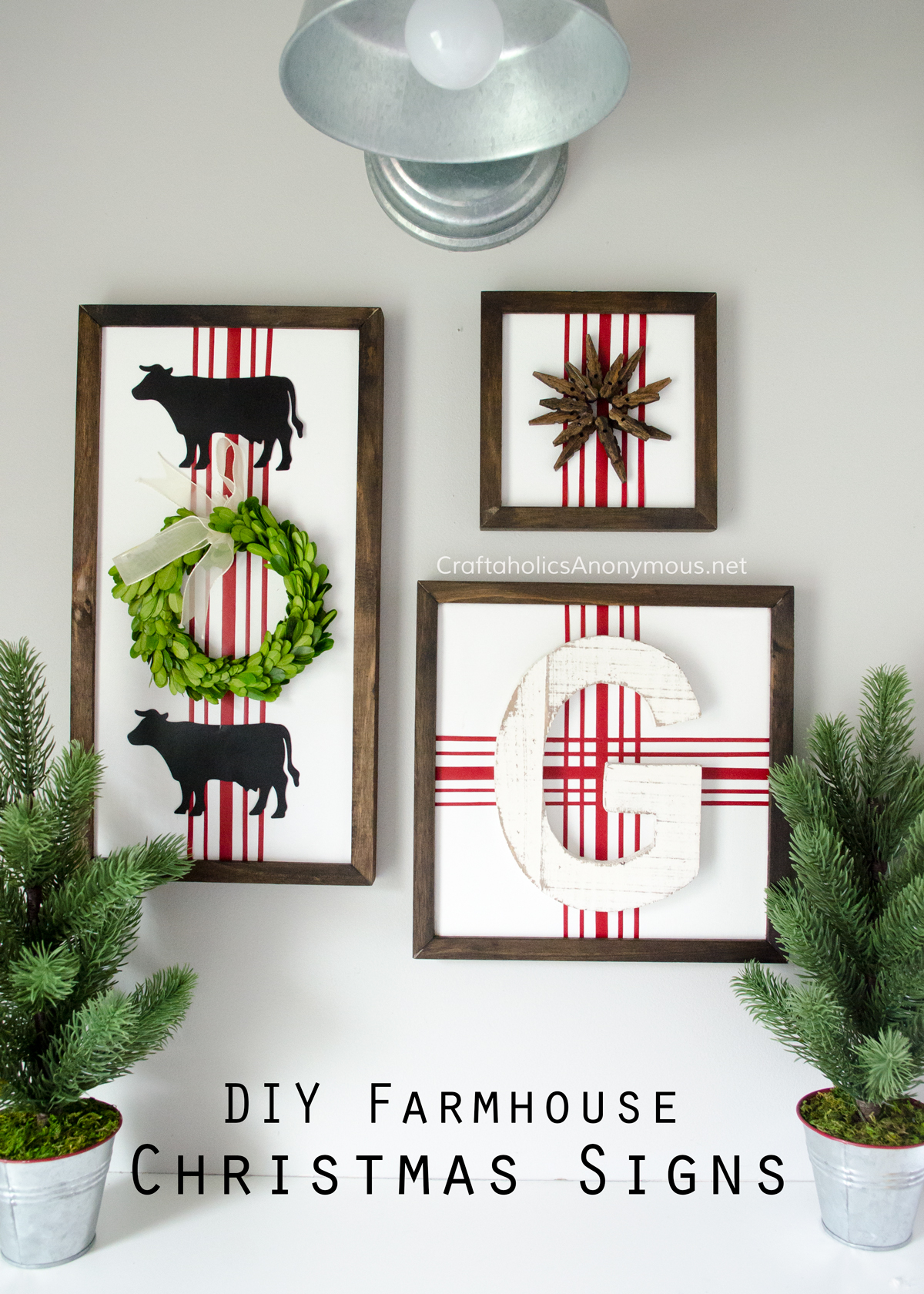Farmhouse Christmas Decor - DIY Farmhouse Christmas Signs | Craftaholics Anonymous