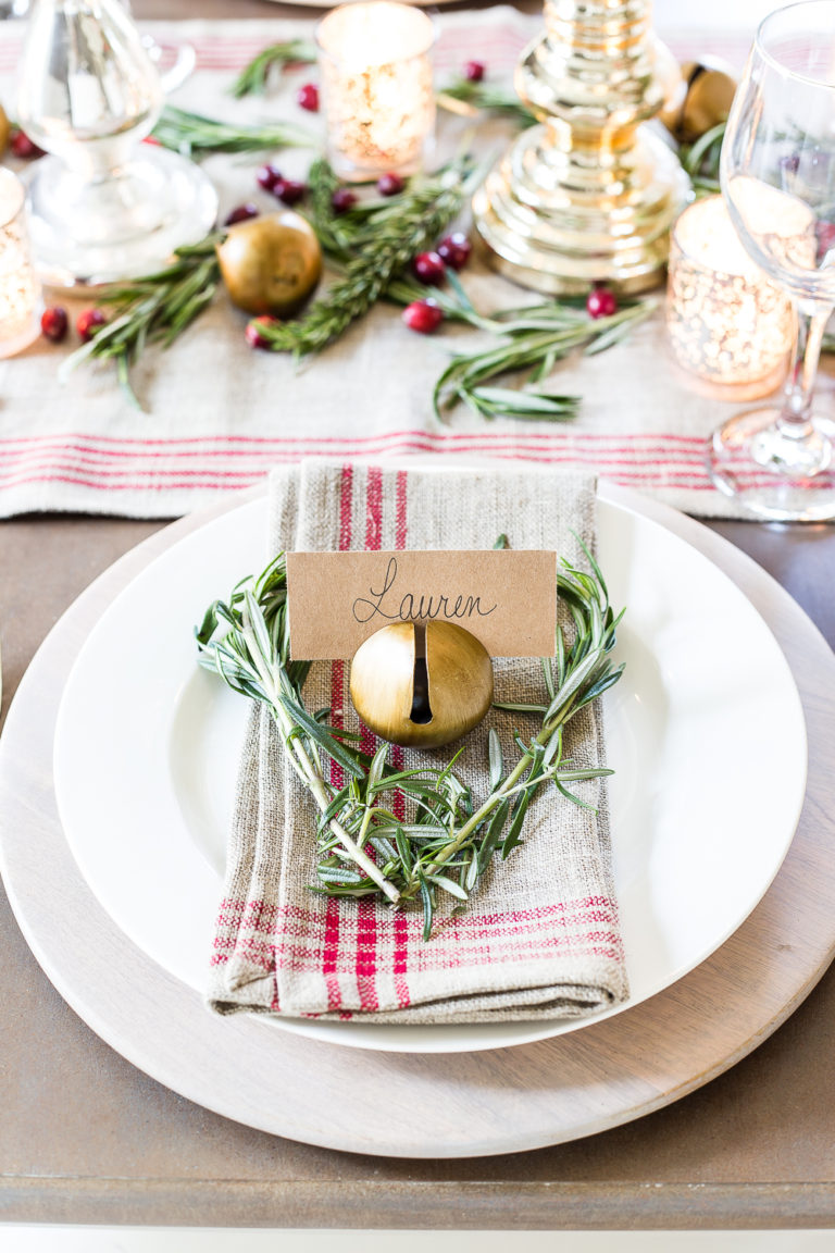Farmhouse Christmas Decor - Christmas Bell Table Setting | Bless'er House