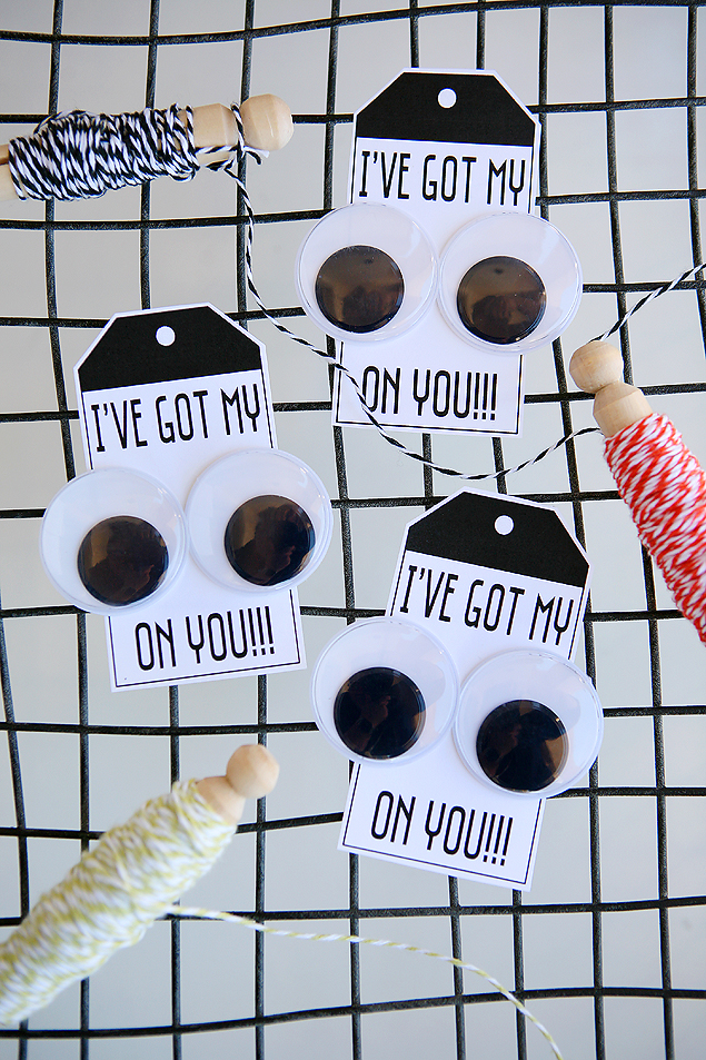 Free Printable I've Got My EYES On You Halloween Tags