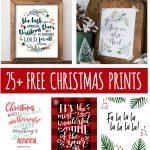 25+ Free Christmas Printables for your Home