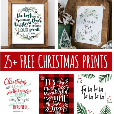 25+ Free Christmas Printables for your Home