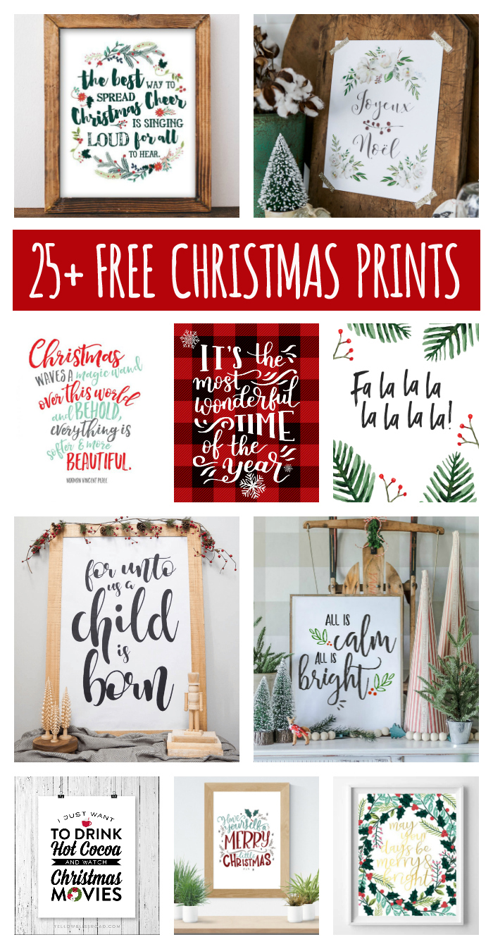 25 free christmas printables for your home eighteen25
