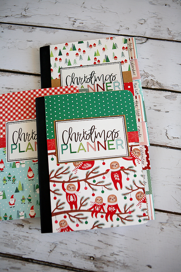2018 Christmas Planners. So fun and easy to make!