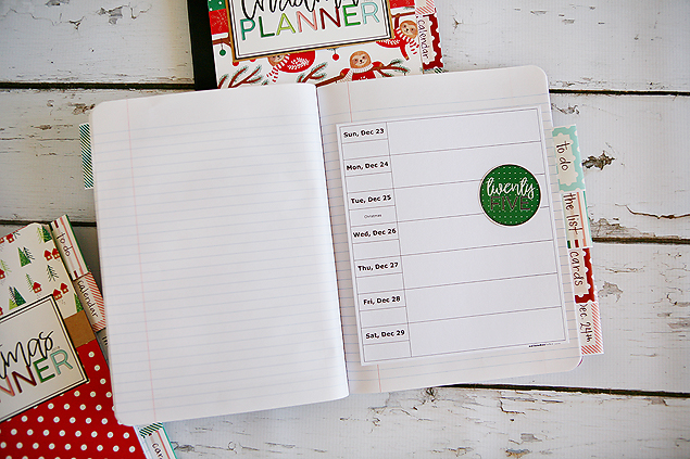 DIY Christmas Planners - Include a calendar in yours!