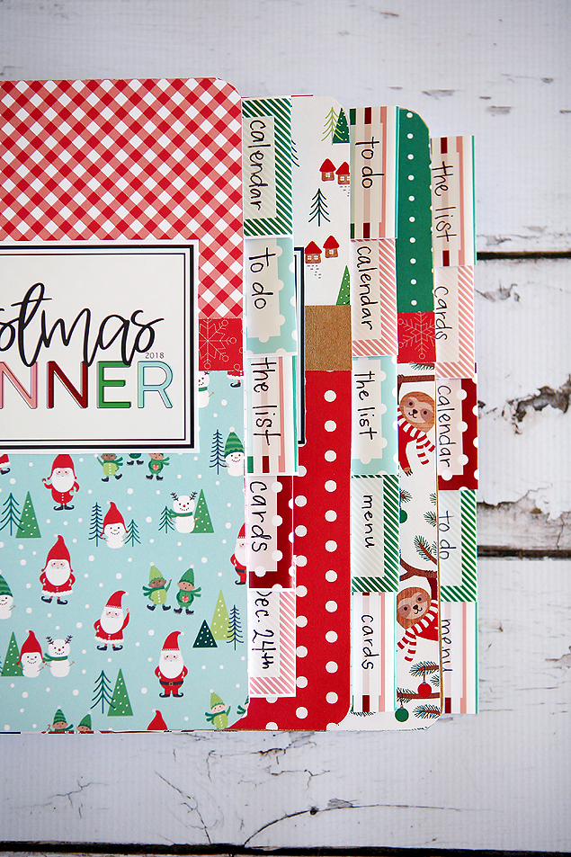 The cutest DIY Christmas Planners! They also make the perfect Craft Night activity.