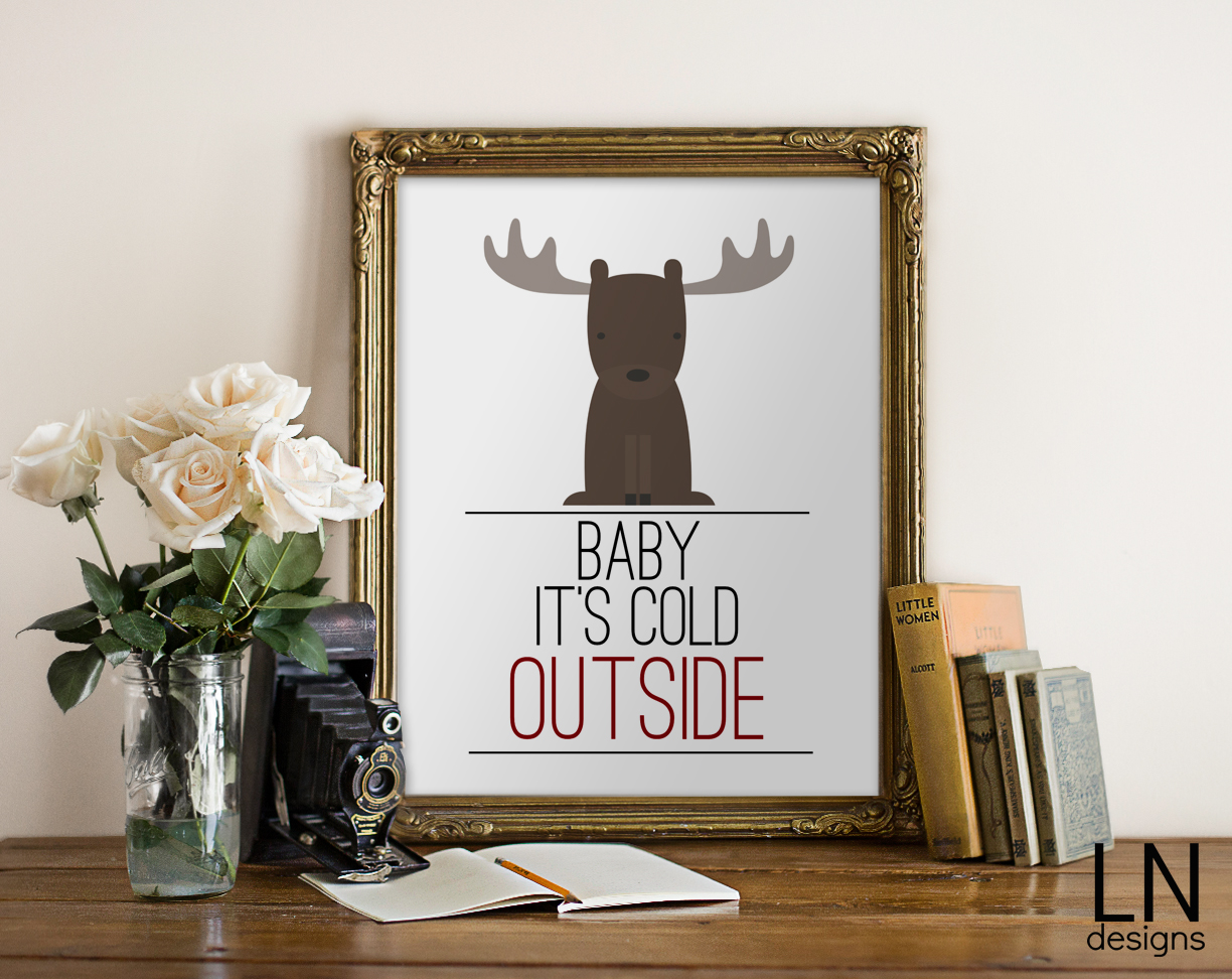 25+ Free Christmas Printables for your Home - Baby It's Cold Outside | Eighteen25