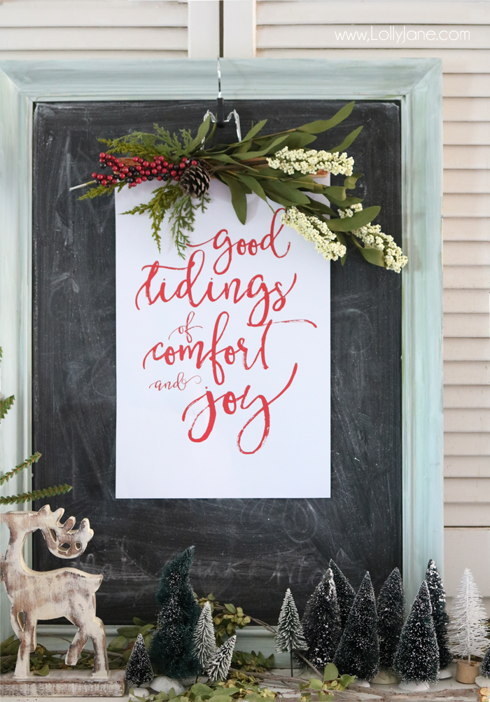 25+ Free Christmas Printables for your Home - Good Tidings of Comfort and Joy | Lolly Jane