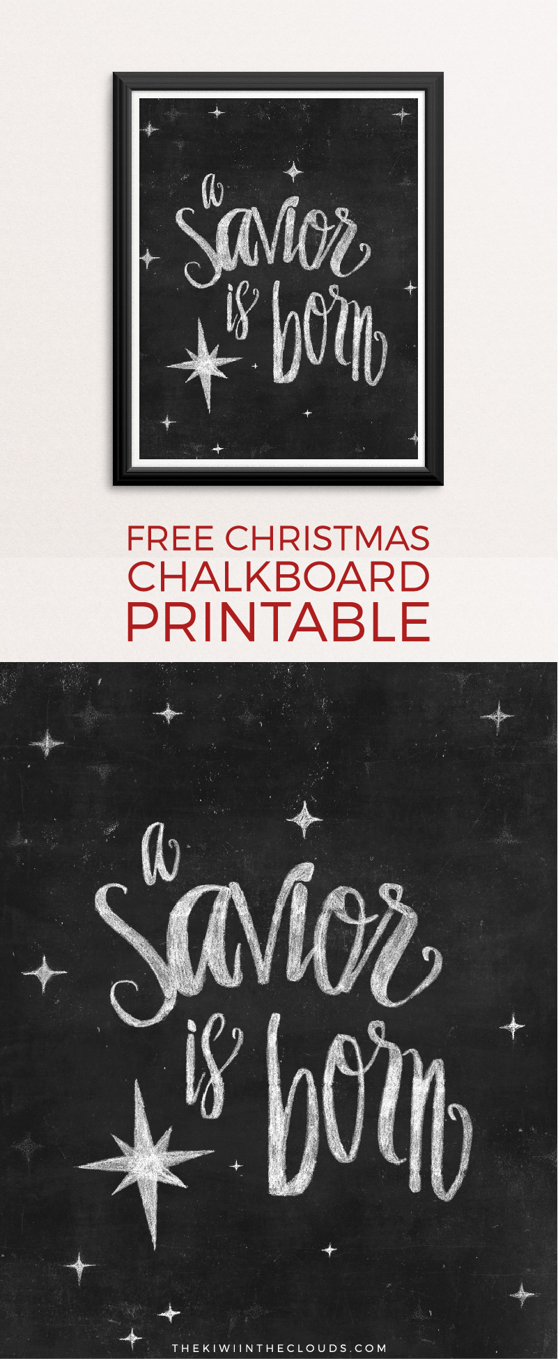 Fun Christmas Printables for your Home - A Savior Is Born | Simple Everyday Mom