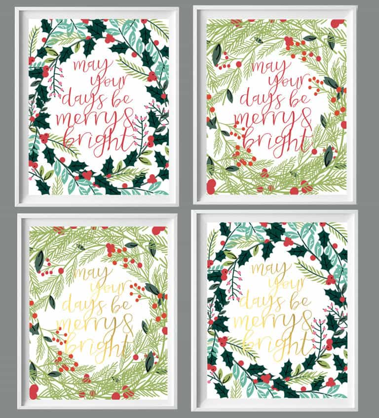 Christmas Prints for your Home - May Your Days Be Merry & Bright | Burlap and Blue