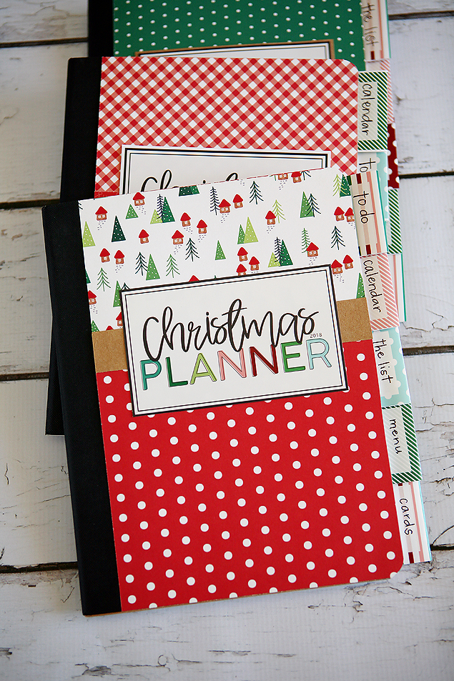 DIY Christmas Planners using inexpensive Composition Notebooks. Also includes all the free printables!