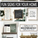 Fun Wood Signs for your Home