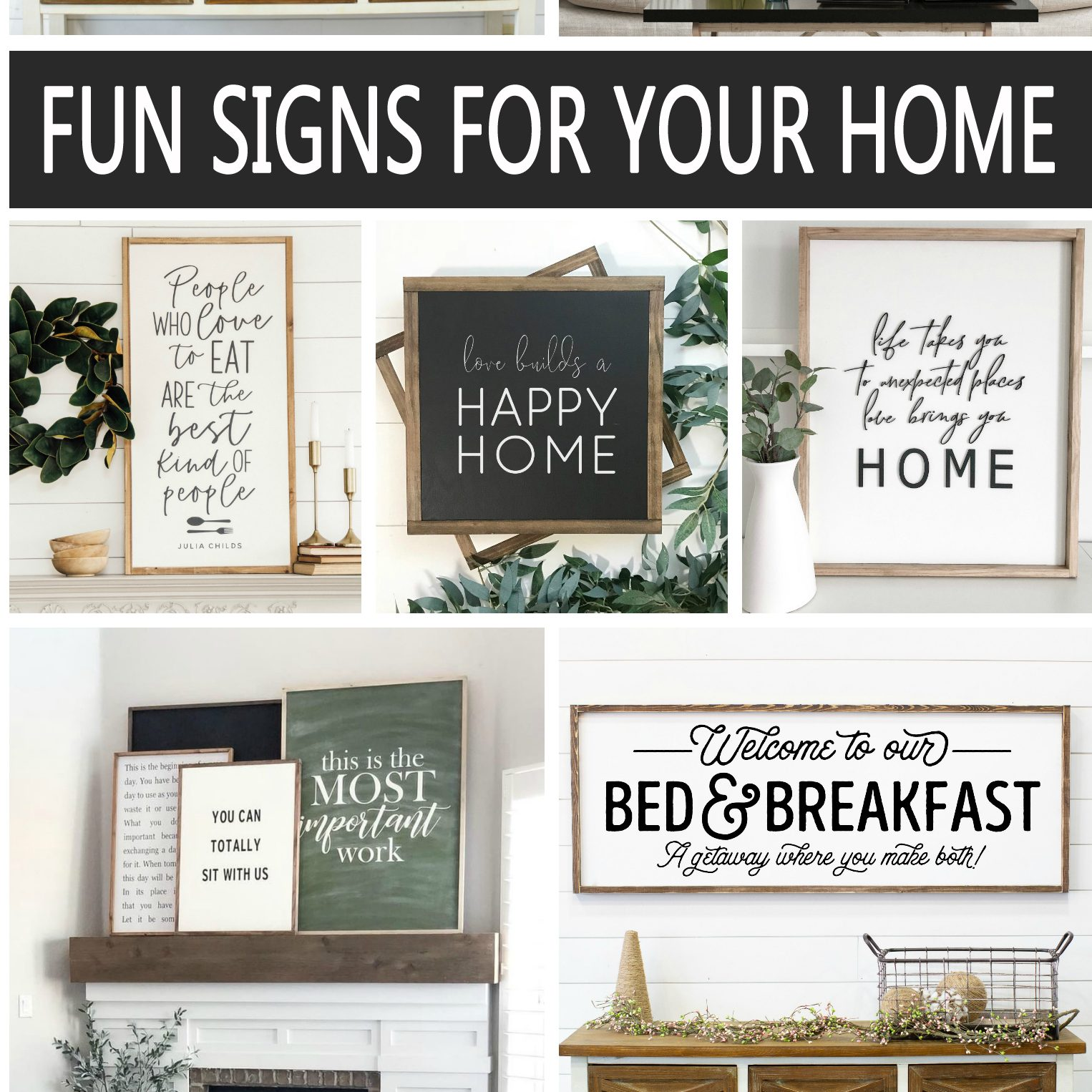 Fun Wood Signs for your Home - Eighteen25