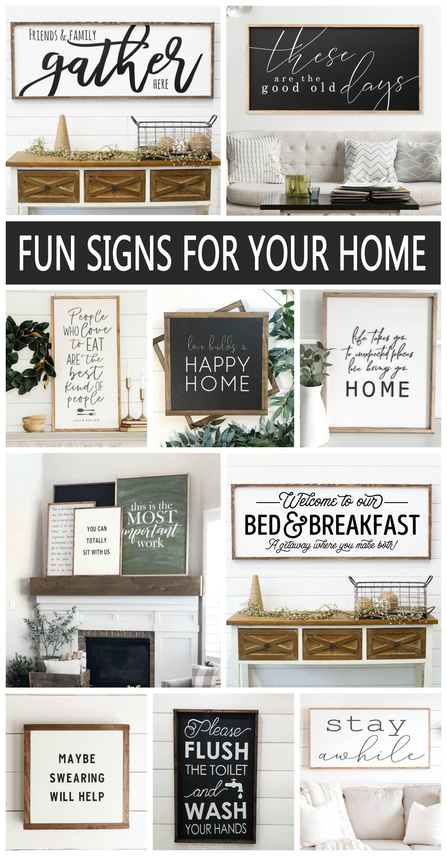 Fun Wood Signs for your Home! Love the look of homemade wood signs as part of my home decor.