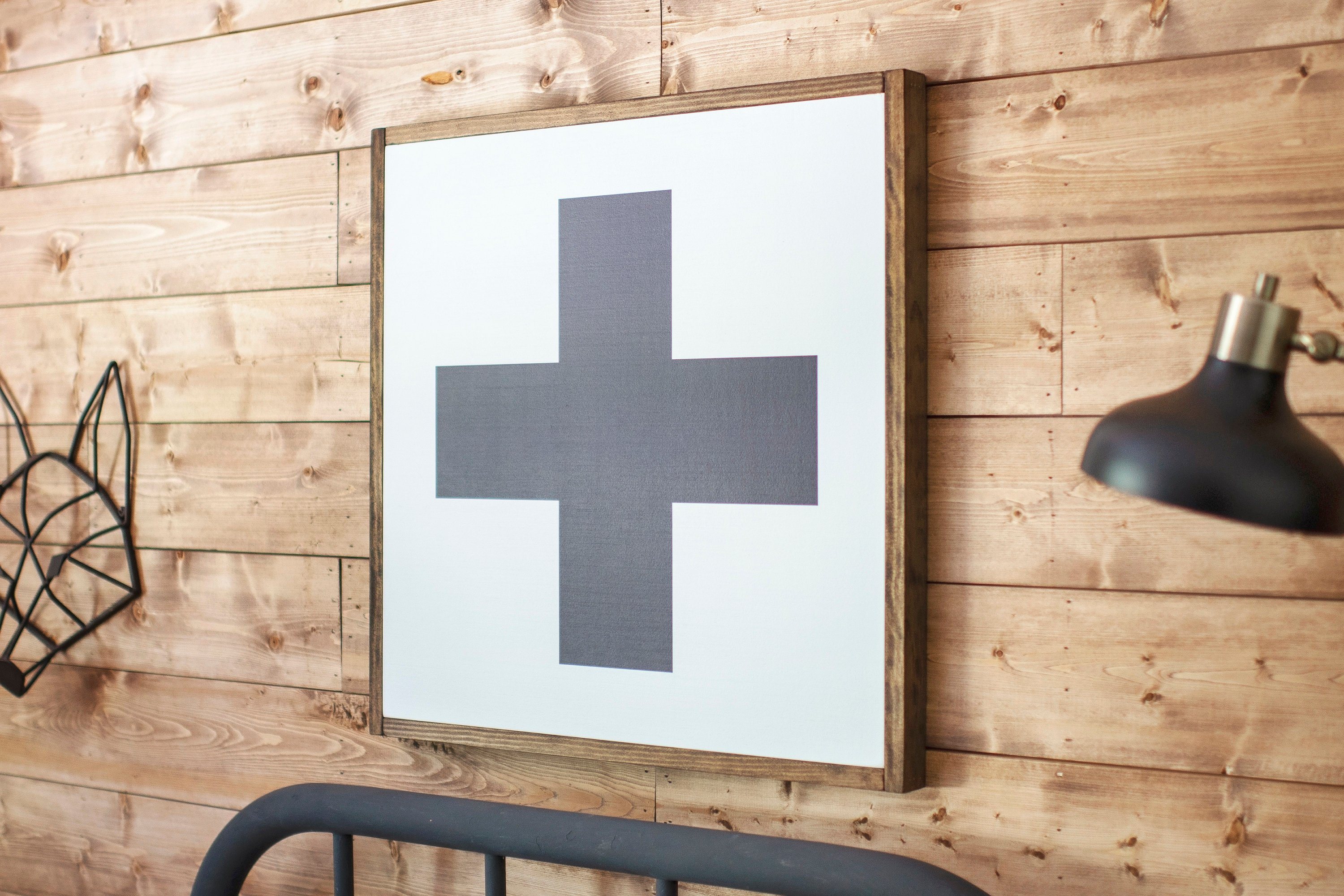 Swiss Cross Wood Sign | Rooted + Grounded Home