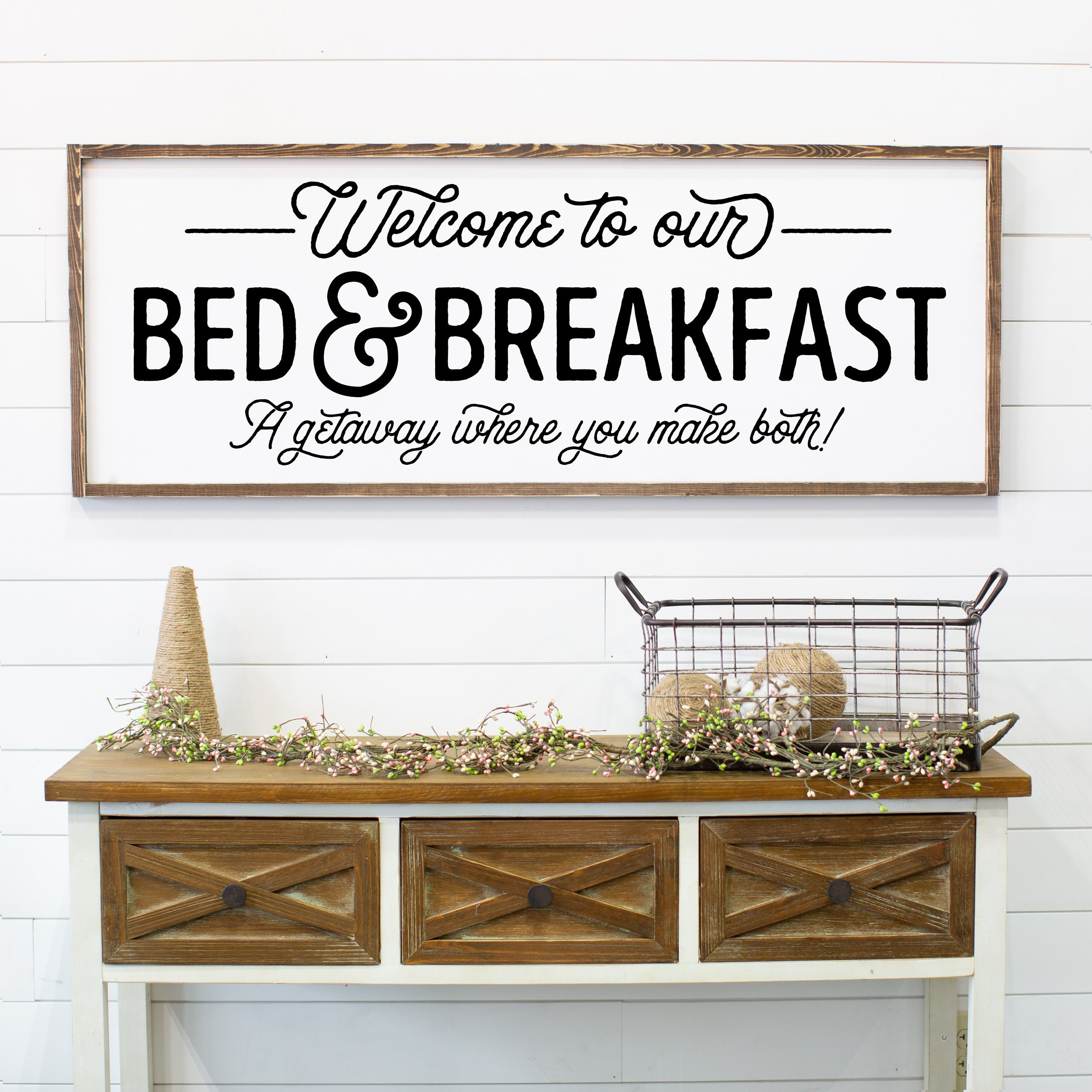 Welcome To Our Bed & Breakfast | The Love Built Shop