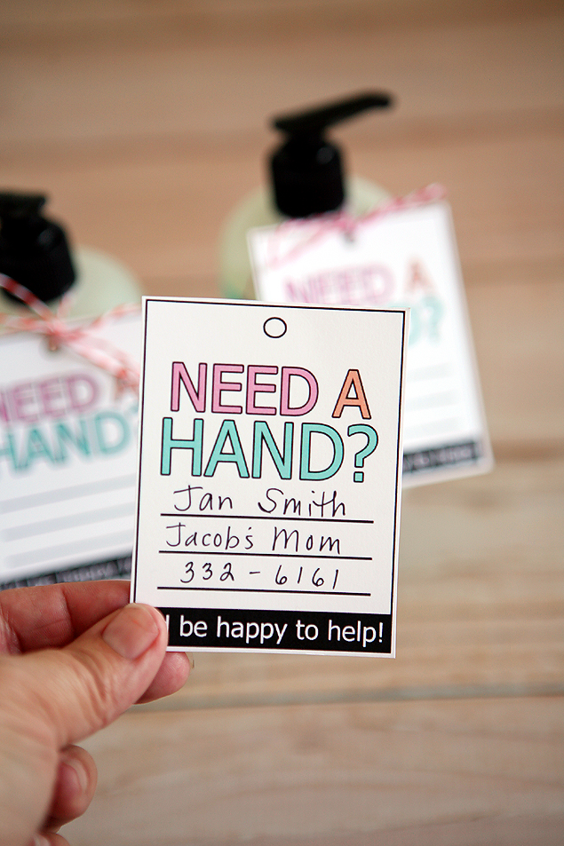 Free Printable Need A Hand? Tags
