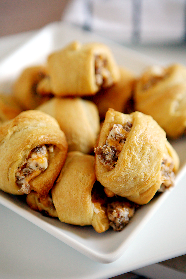 Sausage and cream cheese crescent rolls. So so good!!