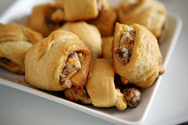 Yummy Sausage Cream Cheese Crescent Rolls. Super easy to put together and everyone loves them!