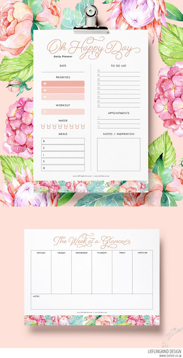 Oh Happy Day Free Printable To Do List