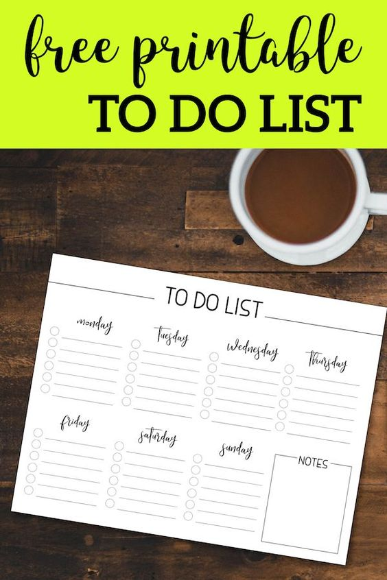 Free Weekly To Do List | Paper Trail Design