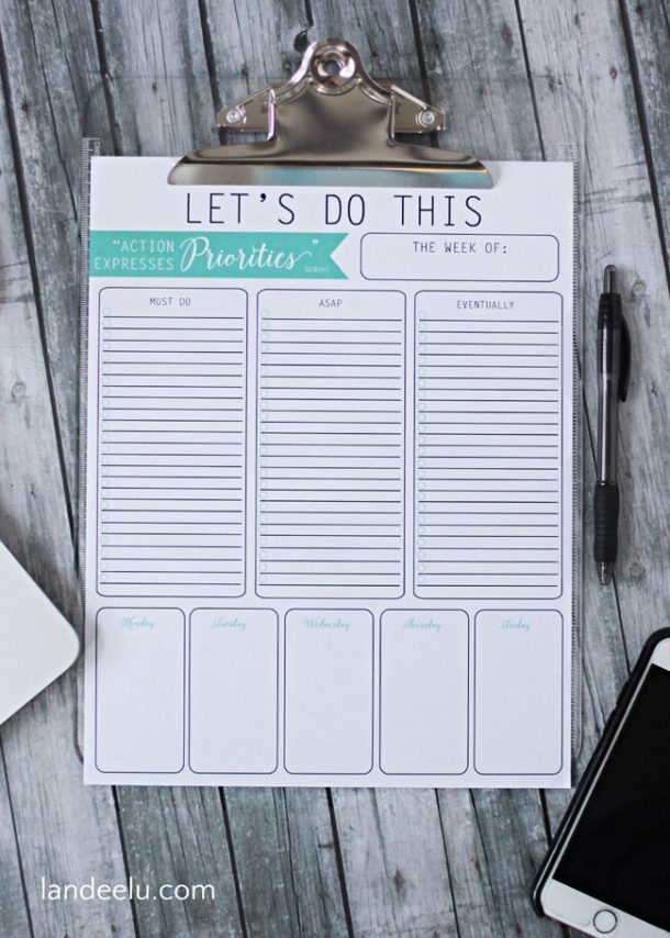 Let's Do This Free Printable | Landeelu