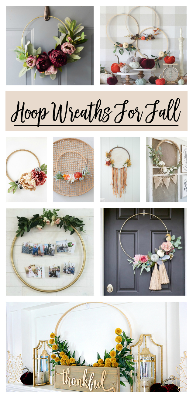 Awesome Hoop Wreath Ideas For Fall! Love so many of these.