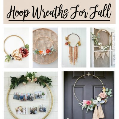Hoop Wreath Making For Fall