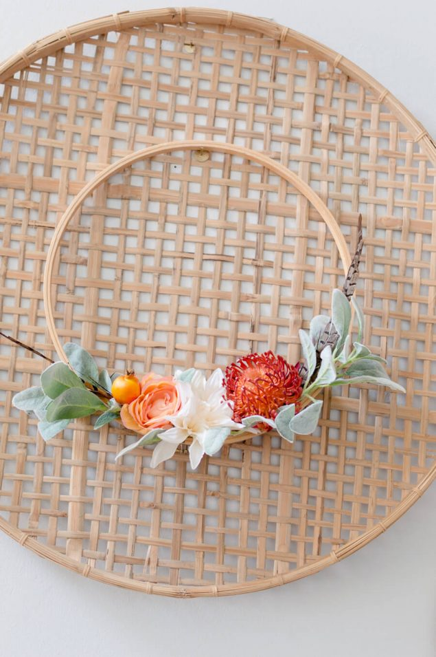 Easy DIY Fall Embroidery Hoop Wreath | The Home I Create