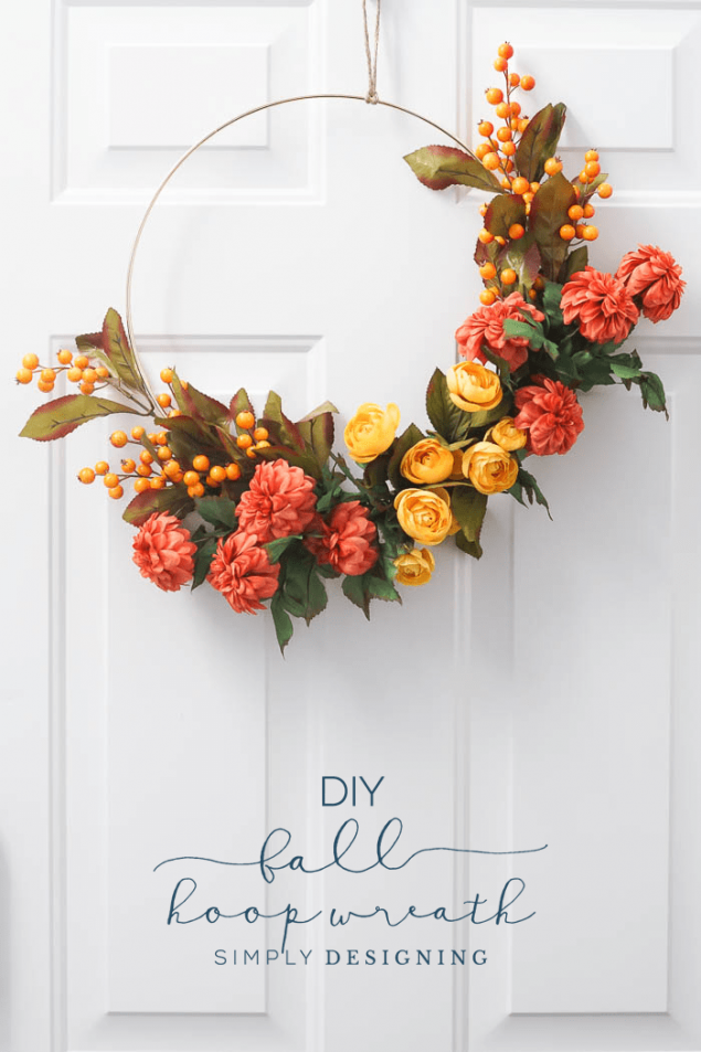 How To Make A Fall Hoop Wreath | Simply Designing