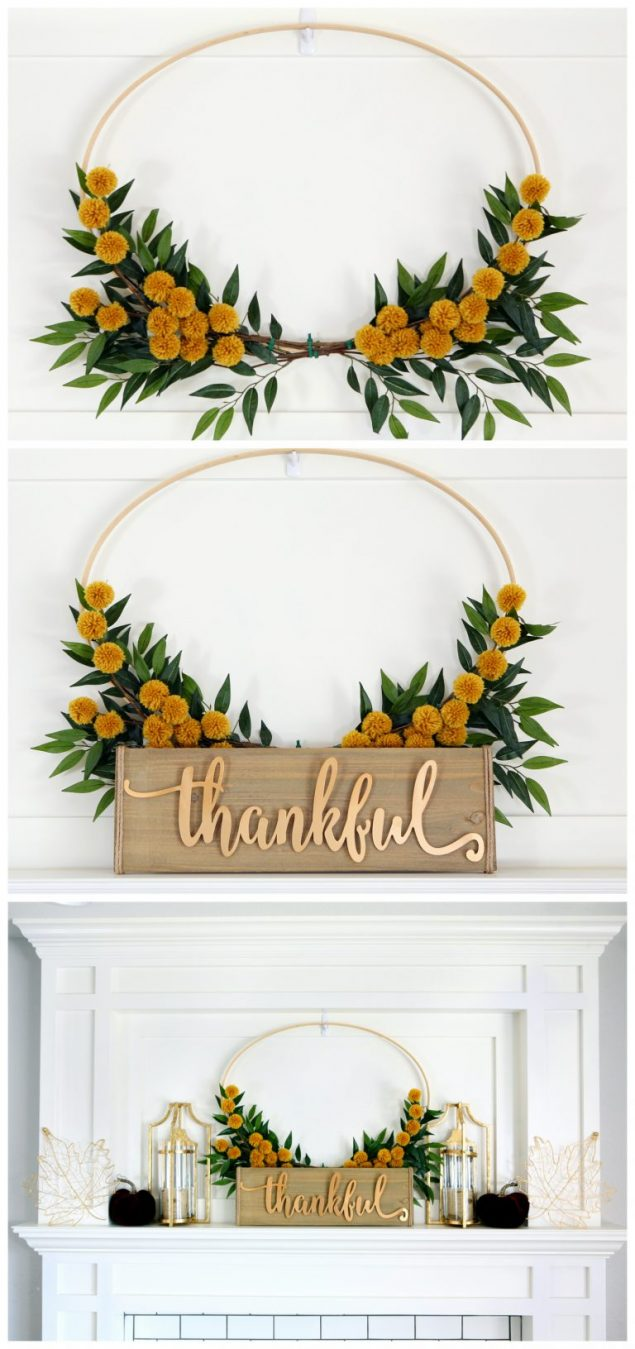 Pretty Fall Hoop Wreath | Eighteen25