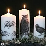 Image Transfer Halloween Candles