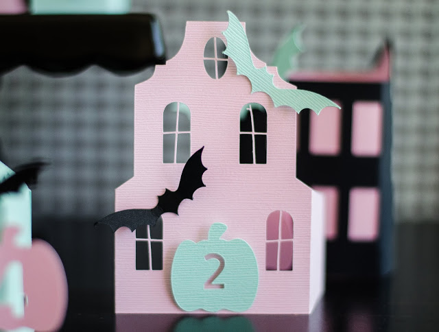 Halloween Countdown Houses in fun nontraditional colors!
